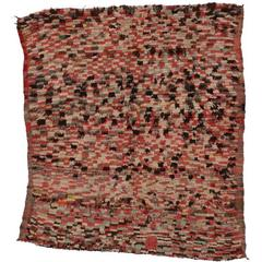 Vintage Boujad Moroccan Rug with Tribal Design and Modern Style
