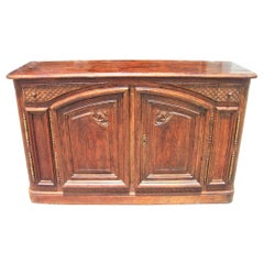 French Oak Provincial Style 4 Door and 2 Drawer Cabinet or Console