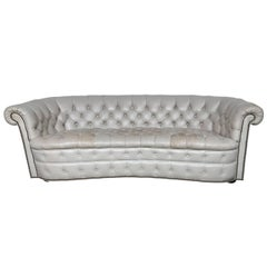 Large Vintage Hollywood Regency Chesterfield Sofa