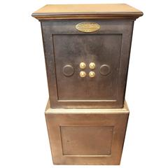 19th Century Black Steel and Iron Safe