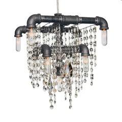 Tribeca Nine-Bulb Compact Chandelier Pendant