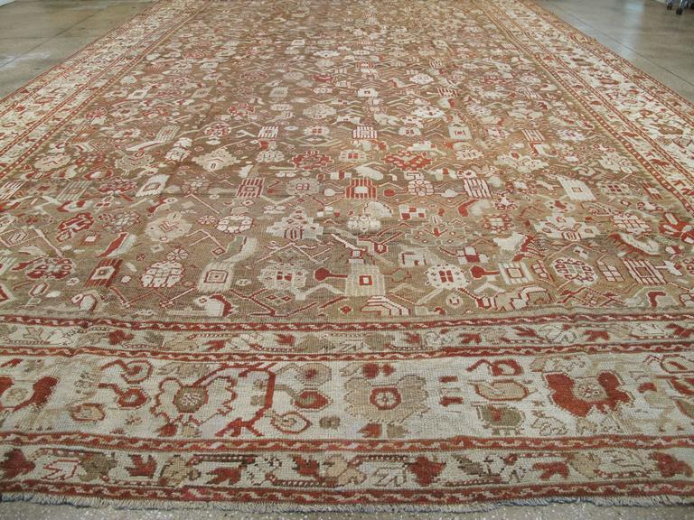 Wool Antique Turkish Ghourdes Carpet For Sale