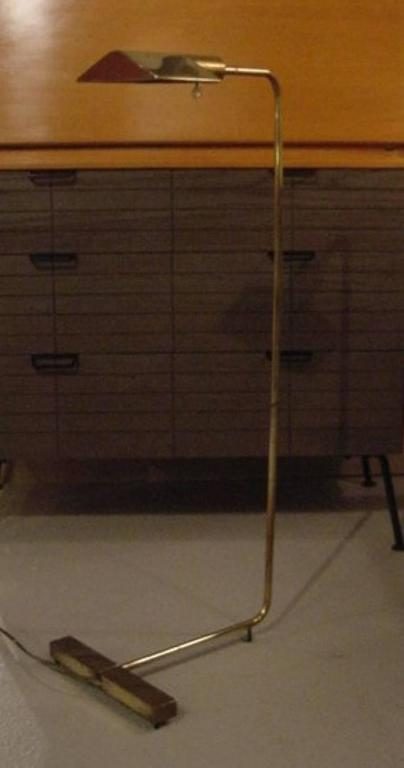 American Pair of Cedric Hartman Brass and Chrome Floor Lamps For Sale