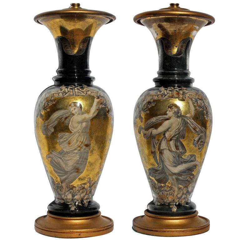 Pair Hollywood Regency of Lamps