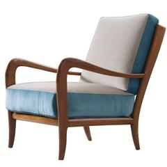 Paolo Buffa Style Chair in Brand New Upholstery