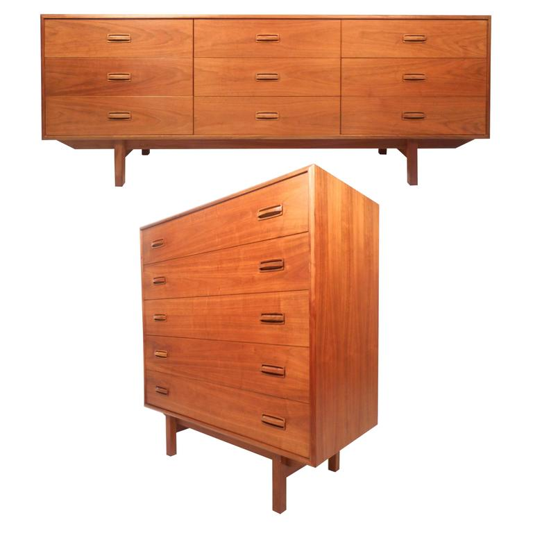 Mid century modern danish teak bedroom set for sale at 1stdibs - Midcentury modern bedroom furniture ...