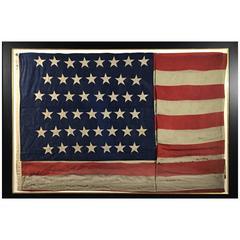 45 Star Flag Framed, circa 1896