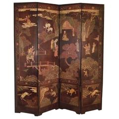 Chinese Double Sided Coromandel Screen