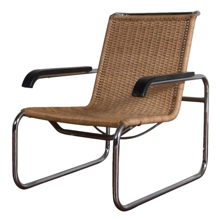 vintage design cantilever chair model b35 designed by marcel breuer for sale at 1stdibs. Black Bedroom Furniture Sets. Home Design Ideas