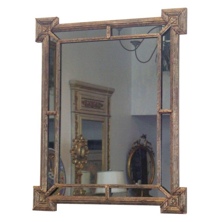 Italian Silver Giltwood Mirror