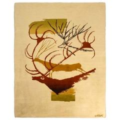 Olga Fisch Handwoven Carpet, 1950s