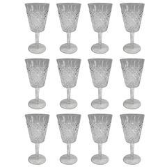 Waterford Alana Pattern Water Glasses, Set of Twelve