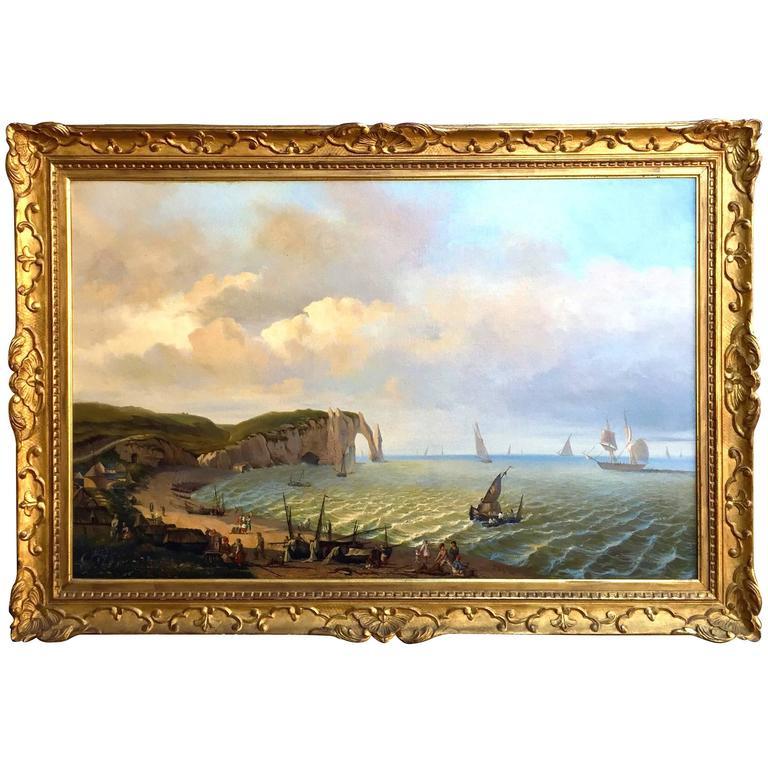 Impressive Large Marine Landscape English, 1847 For Sale