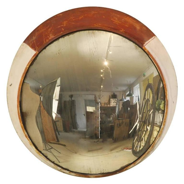 Huge convex railway mirrors for sale at 1stdibs for Big mirrors for sale