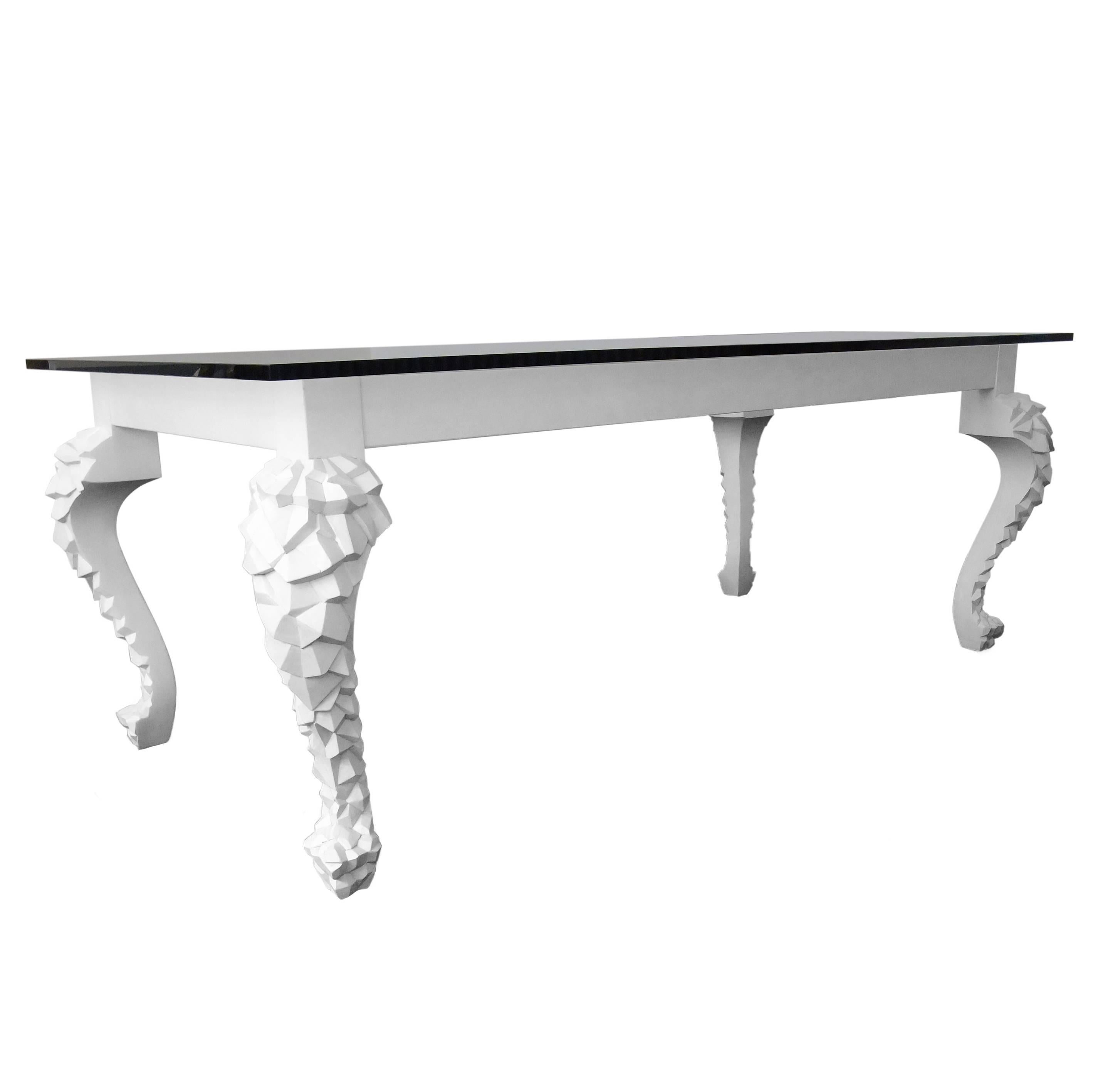 Crusty - hand-carved modern table, designed by Nigel Coates