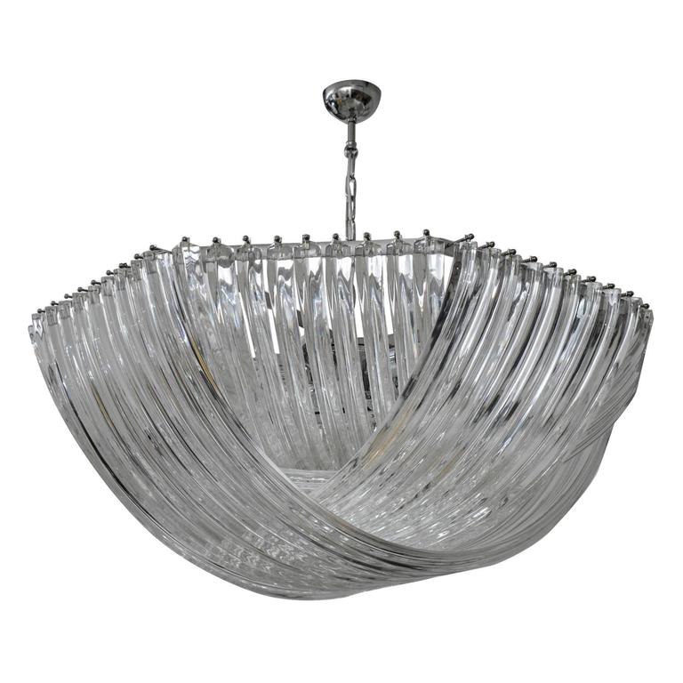 Gorgeous Murano Curved Crystal Chandelier 1