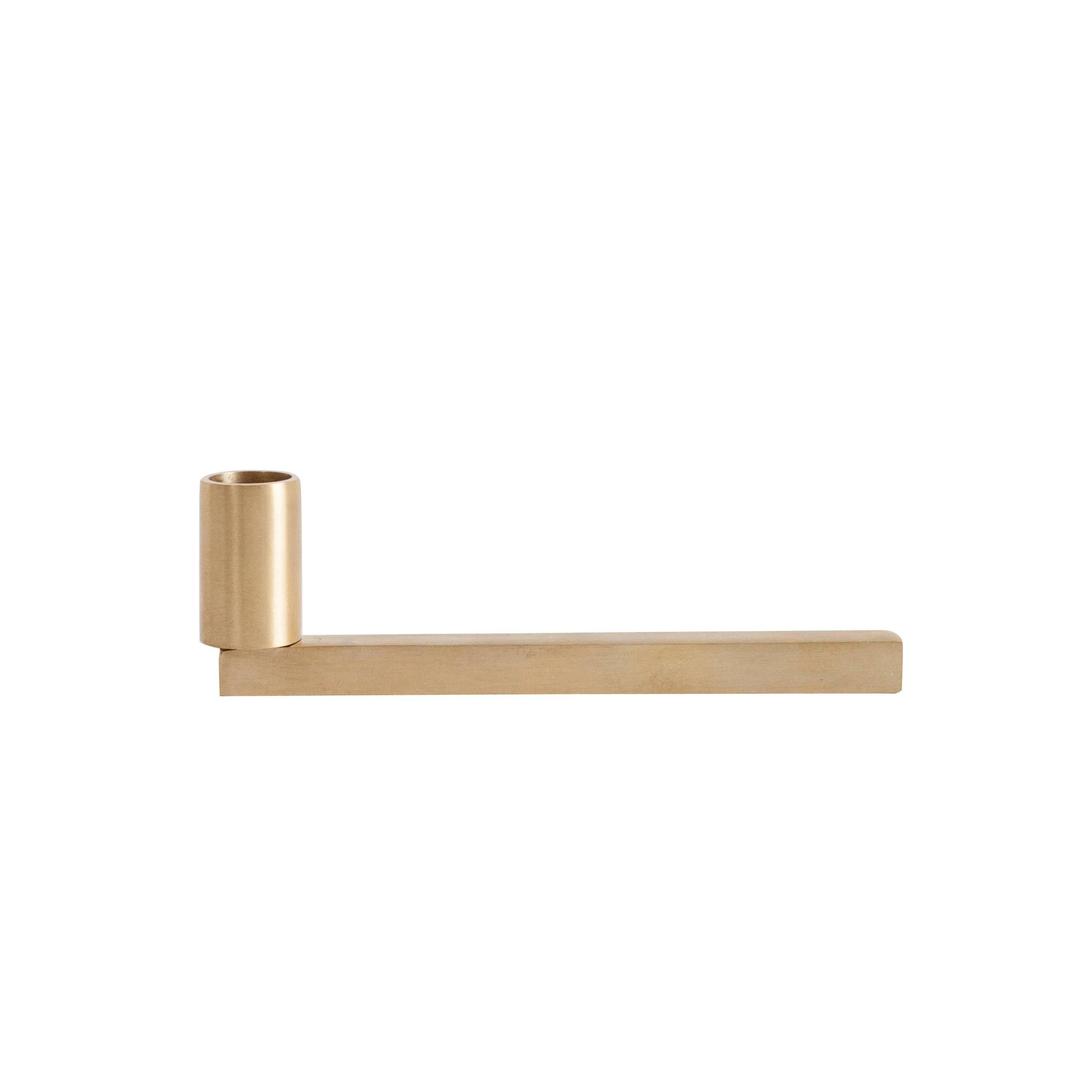 Contemporary 001 Candle Holder in Brass by Orphan Work