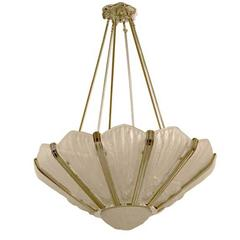 Stunning French Art Deco Chandelier by Genet Et Michon