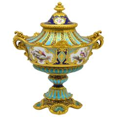 Royal Crown Derby Vase and Cover by Desire Leroy
