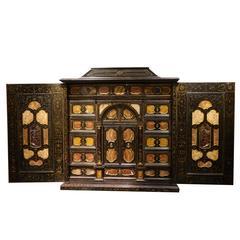 Rare Florentine Cabinet in Marquetry of Precious Stones, Italy, circa 1800
