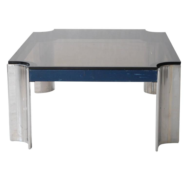 Leon Rosen Chrome Cocktail Table For Pace For Sale At 1stdibs