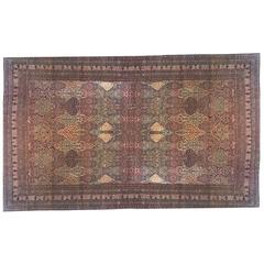 Antique Persian Lavar Oriental Carpet, Mansion Size, with Allover Floral Design