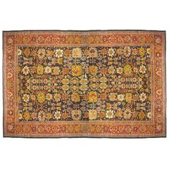 Antique Persian Sultanabad Carpet in Mansion Size with Jewel Tones, circa 1890