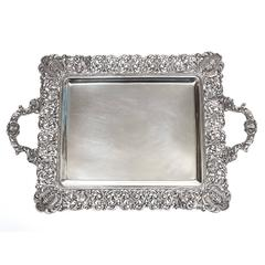 Fabulous Rocaille Sterling Tray