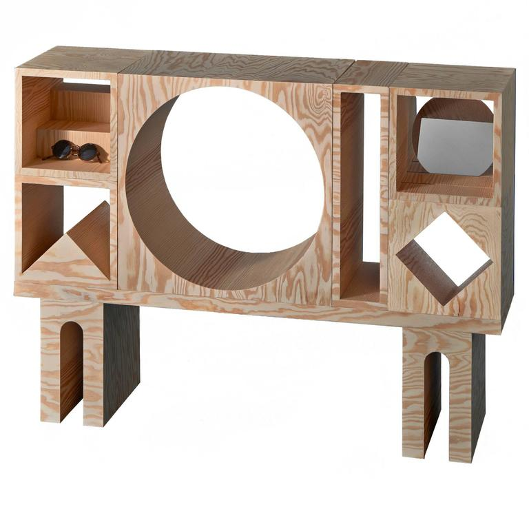 Room Sideboard in Untreated Pine Plywood by Erik Olovsson and Kyuhyung Cho 1