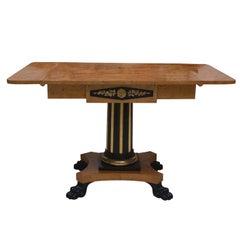 19th Century Swedish Cherrywood Biedermeier Pedestal Sofa Table