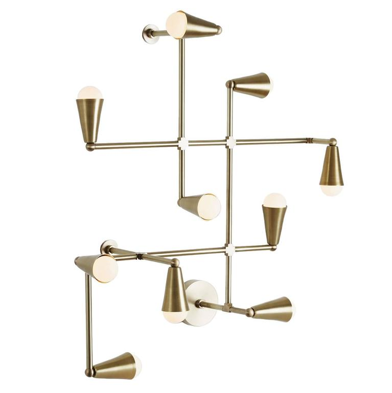 Zig-Zag Brass Made-to-order Sconce or Ceiling Light Fixture