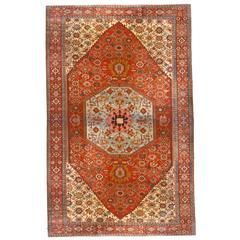Antique Persian Serapi Oriental Rug, Mansion Size, Soft Blue Centre, circa 1880