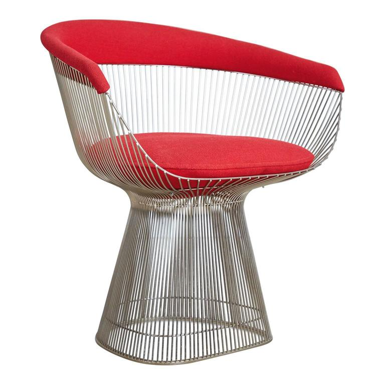 Warren Platner Dining Armchair for Knoll International, 1981 Production Year For Sale