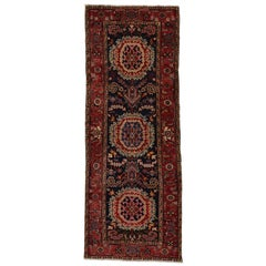 Vintage Persian Heriz Runner with Modern Traditional Style