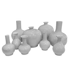 Collection of Pure White Vases, China, Contemporary
