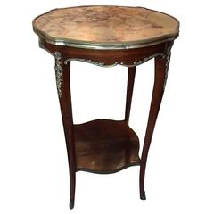 Louis XV Style Gilt and Marble-Top Gueridon or Side Table, Early 20th Century