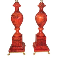 Pair of Alabaster Table Lamps