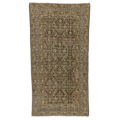 Antique Persian Malayer Gallery Rug with Warm Colors, Wide Hallway Runner