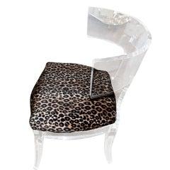 Nice Lucite Klismos Chair
