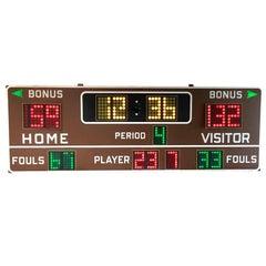 Massive Fair Play 1970s Basketball Scoreboard