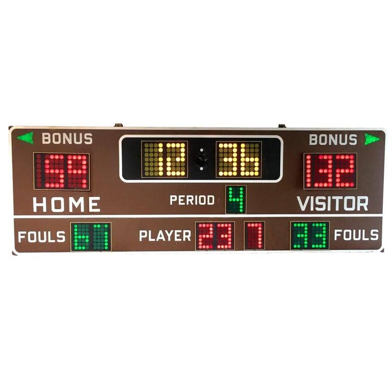 Massive Fair Play 1970s Basketball Scoreboard For Sale