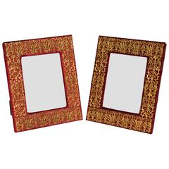 Pair of Louis XIV Style Bronze Doré Picture Frames by EF Caldwell