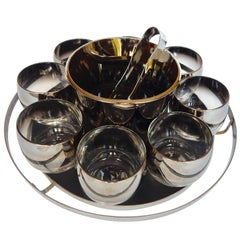 1960s Mid-Century Modern Set of Bar Glassware Attributed to Dorothy Thorpe