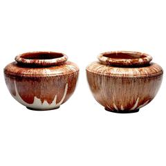 Pair of Oversized, 1950s French Ceramic Urns by Turnad, Paris