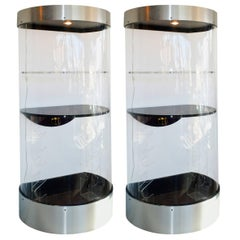 Pair of Space Age Cylindrical Tower Bars