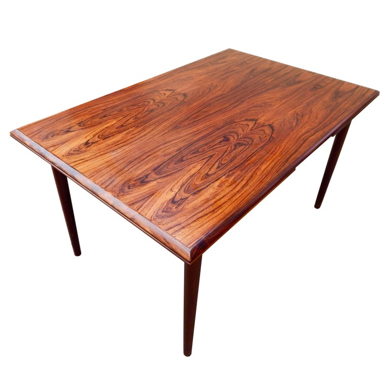 Extendable Danish Mid-Century Modern Rosewood Dining Table, circa 1960