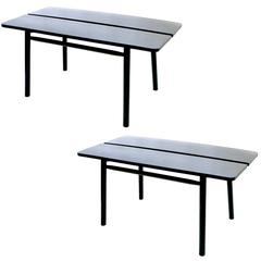 Pair of Pierre Gautier-Delaye Ebonized Dining Tables
