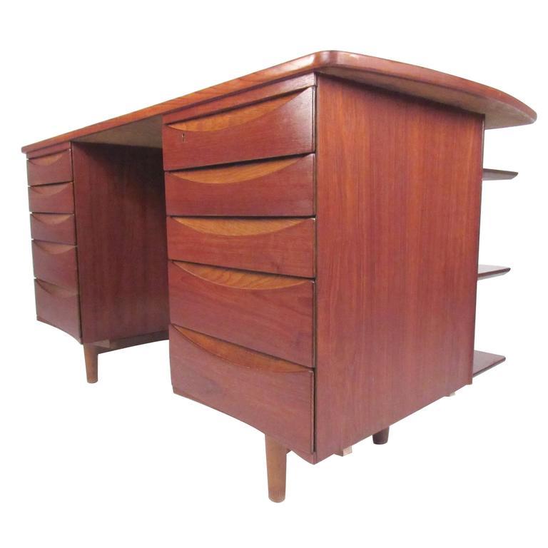 Arne Vodder Double-Sided Teak Desk