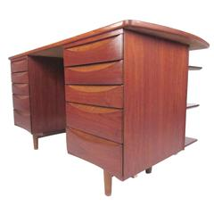 Arne Vodder Double-Sided Teak Desk