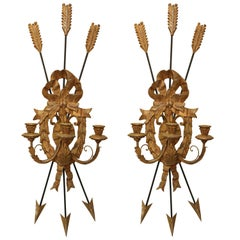 Pair of Italian Carved Giltwood Sconces